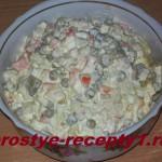 Рецепт Оливье с курицей