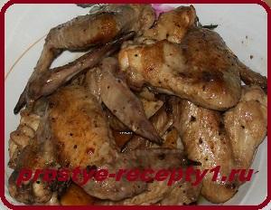 Жареные куриные крылышкиы с фото