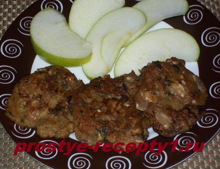 Печеночные оладьи из куриной печени калорийность