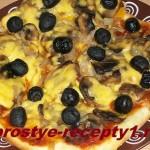 Пицца на тонком тесте — подробный рецепт