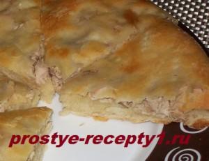 Хачапури с куриным мясом