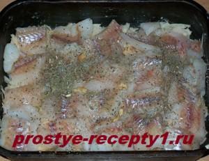 2 слой запеканки - рыбное филе