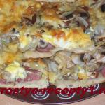 Бездрожжевое тесто для пиццы на кислом молоке