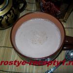 Вкусное какао с пряностями