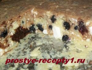 Шоколадно-творожный пирог готов