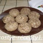 Печенье из овсяных хлопьев с грецким орехом
